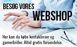 Køb kontaktlinser online hos Friis Optik