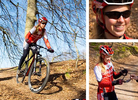 Camilla Søgaard tester Oakley-solbriller for Friis Optik