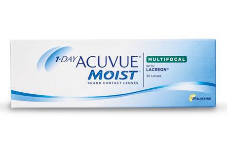 Æske med Acuvue Moist 1 Day-kontaktlinseæske