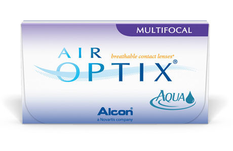 Æske med Alcon Air Optix Multifocal-kontaktlinser