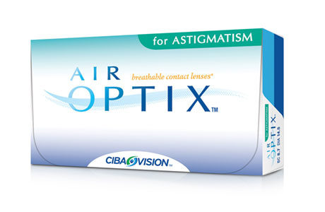 Æske med Air Optix for astigmatism-kontaktlinser