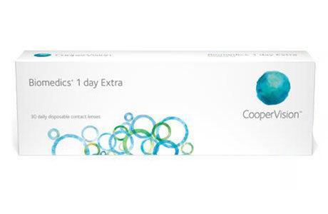 Æske med CooperVision Biomedics 1 day Extra-kontaktlinse