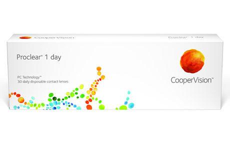 Æske med CooperVision Proclear 1 Day-kontaktlinser