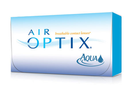 Æske med Air Optix Aqua-kontaktlinser