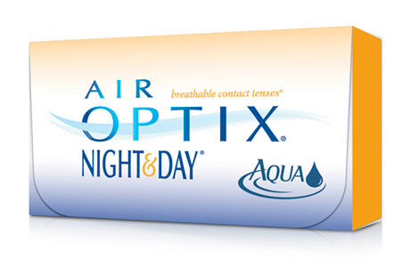 Æske med Air Optix Night & Day-kontaktlinser