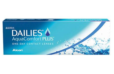 Æske med Dailies AquaComfort Plus-kontaktlinser