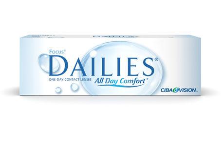 Æske med Dailies all day Comfort-kontaktlinser 30 stk.