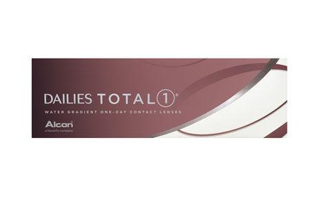Æske med Dailies Total 1-kontaktlinser