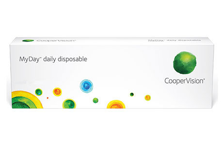 Æske med Coopervision MyDay daily disposable-kontaktlinser