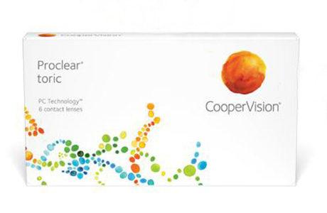 Æske med CooperVision Proclear Toric-kontaktlinser