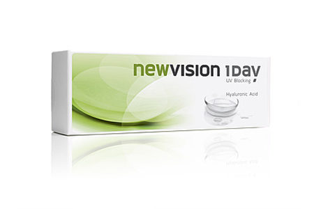 Æske med Vision Care New Vision 1 Day-kontaktlinser