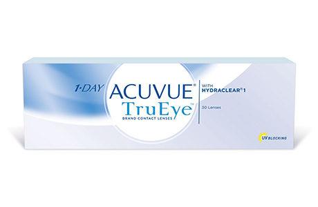 Æske med Acuvue 1 Day TrueEye-kontaktlinser