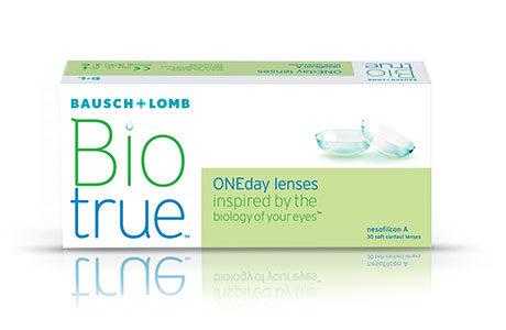 Æske med Bausch+Lomb Biotrue-kontaktlinser