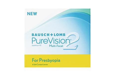 Æske med Bausch+Lomb Purevision 2 for presbyopia-kontaktlinser