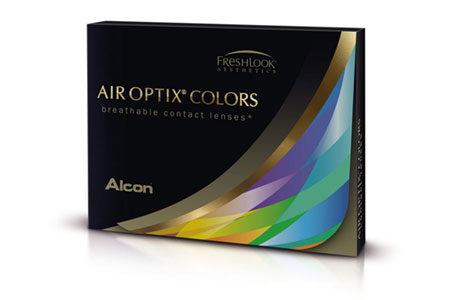 Æske med Air Optix Colors-kontaktlinser