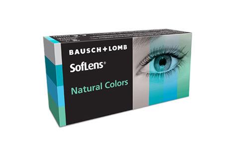 Kontaktlinseæske med Bausch+Lomb Soflens natural Colors