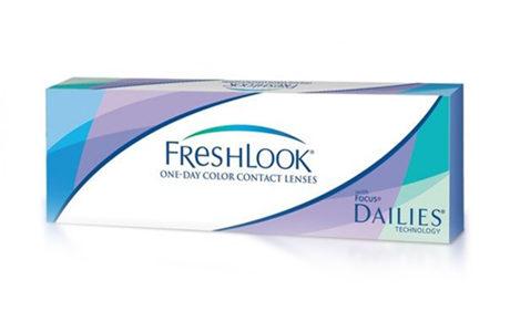 Æske med Freshlook-kontaktlinser