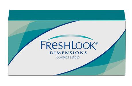 Æske med Freshlook Dimensions-kontaktlinser