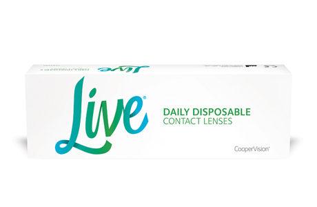 Æske med Cooper Live kontaktlinser