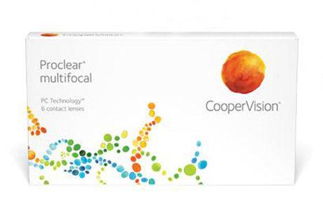 Æske med Cooper Proclear Multifocal-kontaktlinser