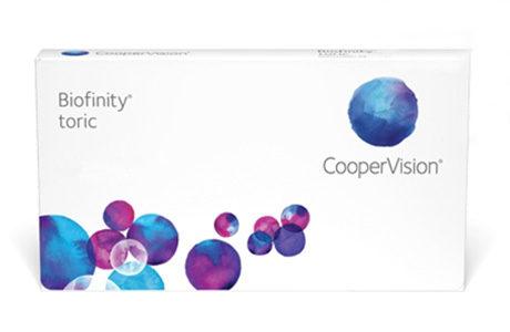 Æske for Cooper Biofinity Toric-kontaktlinser