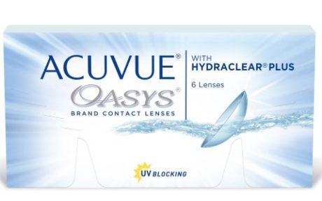 Æske med Acuvue Oasys-kontaktlinser
