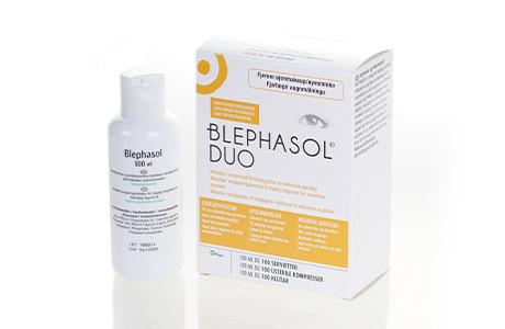 Flaske og æske med Blephasol Duo