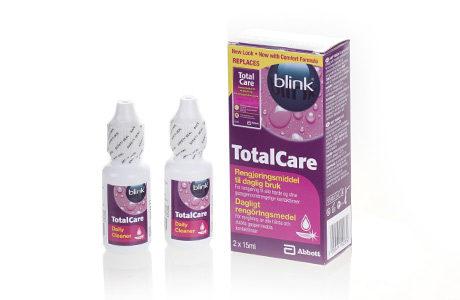 Flasker med Blink Totalcare Daily Cleaner-kontaktlinsevæske