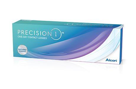 Æske med Alcon Precision1-kontaktlinser