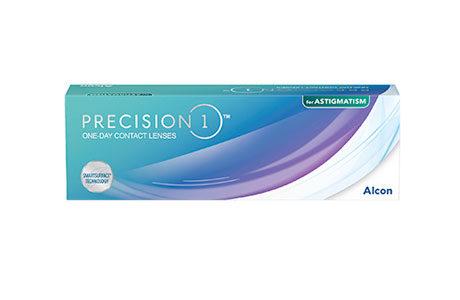Æske med Alcon Precision1 astigmatism-kontaktlinser