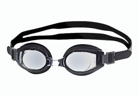 Sorte svømmebriller med styrke til børn