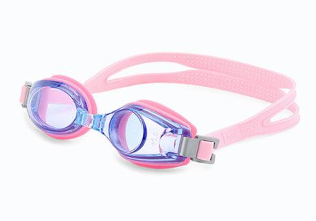 Rosa svømmebriller med styrke til børn