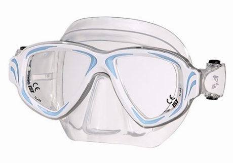 Primotec dykkemaske M200 hvid/blå