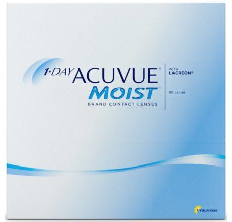 Æske med Acuvue Moist 1 Day-kontaktlinser 90 stk
