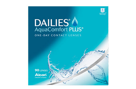 Æske med Dailies AquaComfort Plus-kontaktlinser 90 stk.