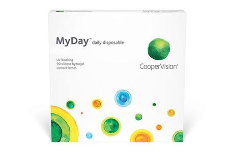 Æske med Coopervision MyDay Toric daily disposable-kontaktlinser 90 stk