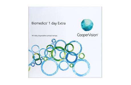 Æske med CooperVision Biomedics 1 day Extra-kontaktlinse 90 stk.