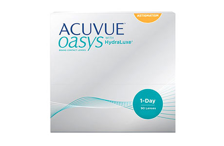 Æske med Johnson & Johnson Acuvue Oasys 1 day-kontaktlinser 90 stk.