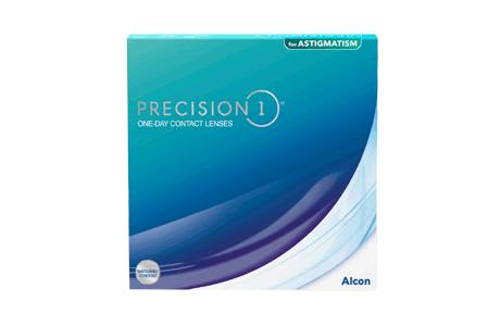 Æske med 90 stk. Alcon Dailies Precision1 astigmatism kontaktlinser